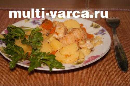 Пангасиус с овощами в мультиварке DEX 60