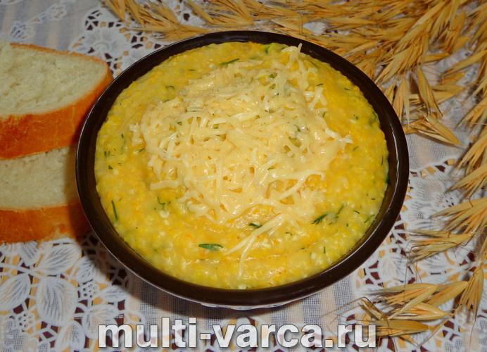 Кукурузная каша с сыром в мультиварке