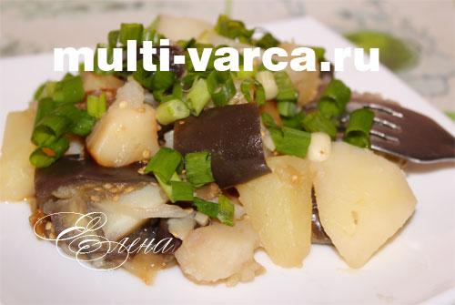 баклажаны с картофелем в мультиварке рецепты