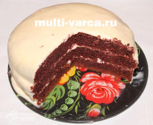 шоколадный торт в мультиварке рецепт с фото