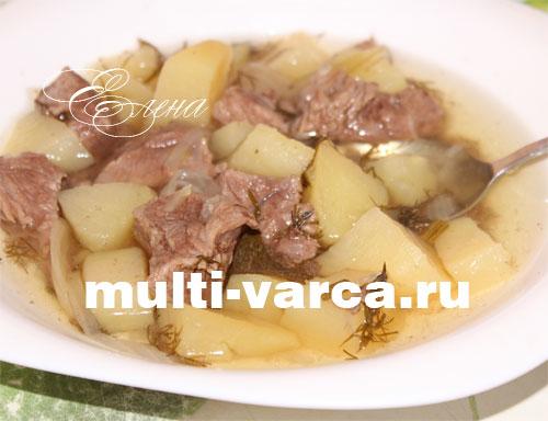 рецепт приготовления говядины с картошкой в мультиварке