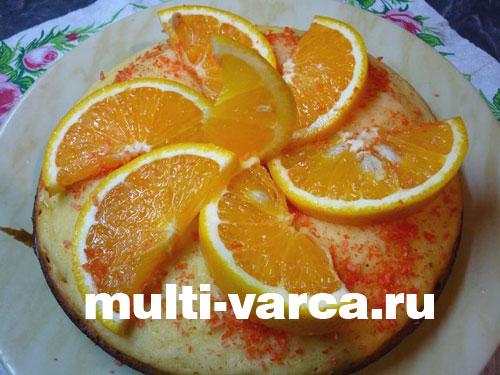 Апельсиновый кекс в мультиварке