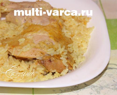 как в мультиварке приготовить курицу с рисом