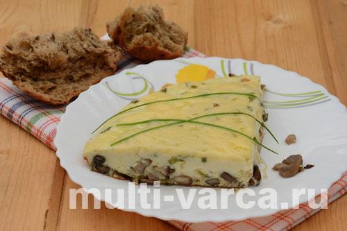 Омлет с грибами и сыром в мультиварке