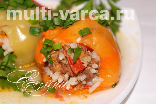 как приготовить фаршированные перцы с мясом и рисом в мультиварке