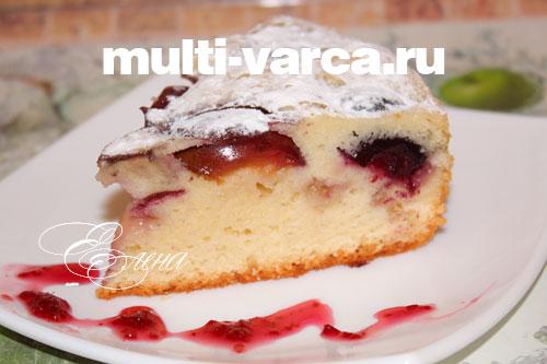 пирог со сливами в мультиварке рецепт