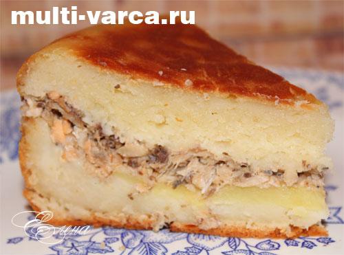 Пирог рыбный в мультиварке рецепты с фото