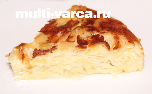 Пирог с капустой в мультиварке