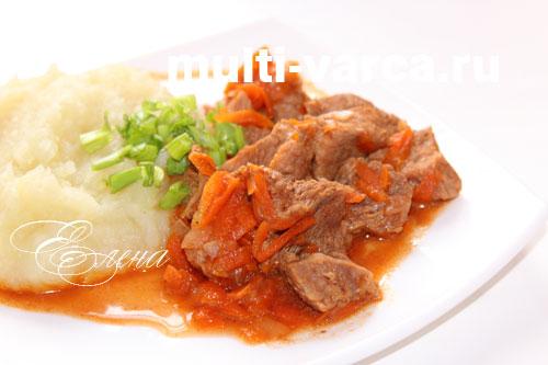 Вкусная мясная подлива из говядины в мультиварке