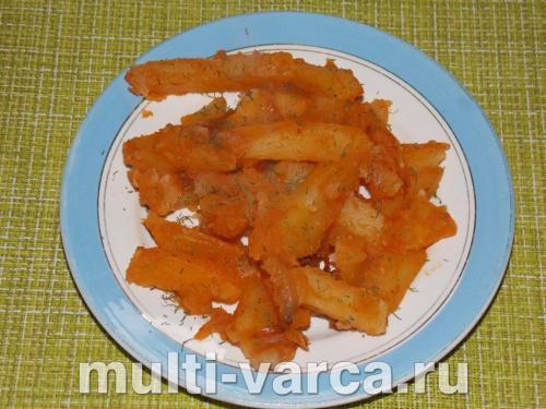 Постная картошка в мультиварке