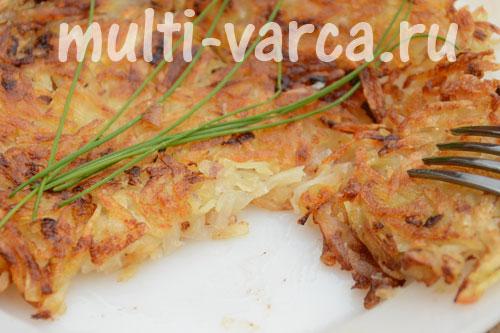 Картофельные драники или оладьи в мультиварке