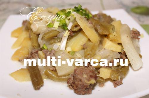 картошка с сыром и фаршем в мультиварке рецепты
