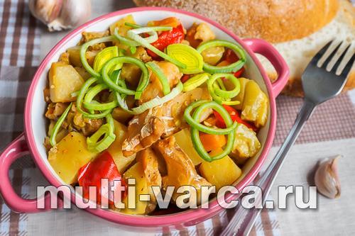 тушеная рыба с овощами в мультиварке