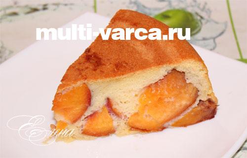 Пирог с персиками в мультиварке