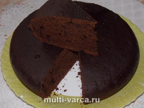Кекс с какао на воде в мультиварке