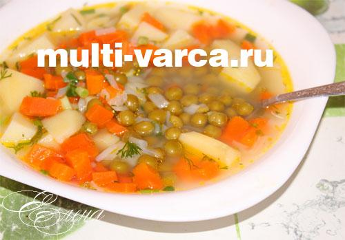 суп в мультиварке с консервированным горошком рецепт с фото
