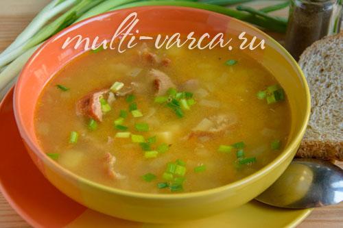 гороховый суп в мультиварке-скороварке филипс рецепт