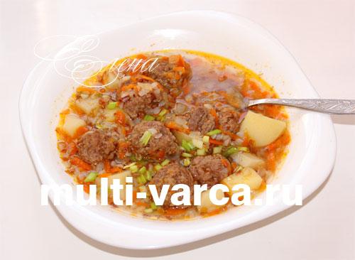 Суп с фрикадельками в мультиварке редмонд рецепт с фото пошагово