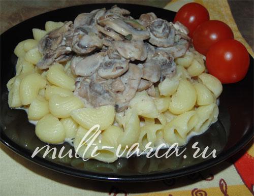Сырно-грибной соус в мультиварке