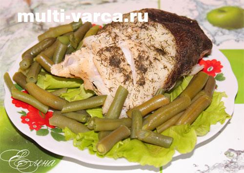 Рыба с овощами на пару в мультиварке