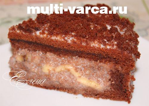 Рецепт шоколадного торта в мультиварке видео