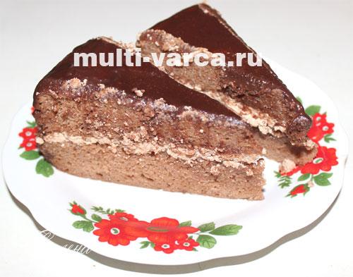 шоколадный торт Прага в мультиварке