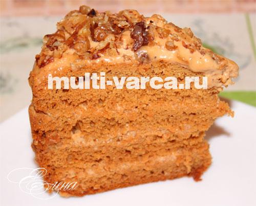 торт медовик рецепт на мультиварке
