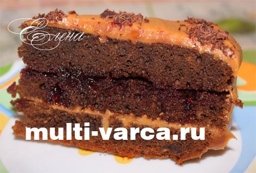 Кофейный торт в мультиварке рецепт с фото