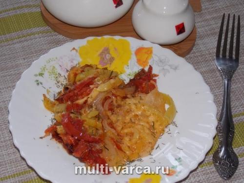 Запеканка с помидорами в мультиварке