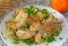 Курица в сливочном соусе в мультиварке