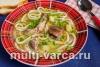 Суп с куриными потрошками и домашней лапшой