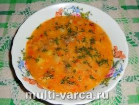 Гороховый суп с тушенкой в мультиварке