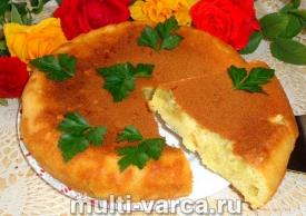 Заливной пирог с картошкой в мультиварке