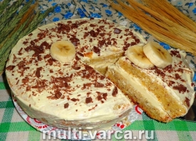 Банановый торт в мультиварке