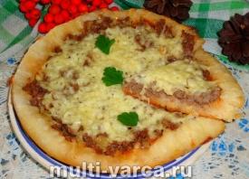 Пицца с фаршем в мультиварке