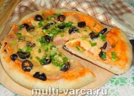 Пицца в мультиварке рецепт с дрожжами