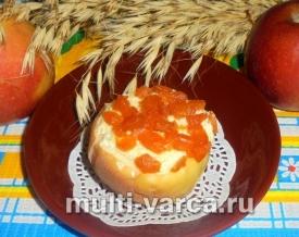 Запеченные яблоки с творогом в мультиварке