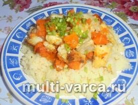 Филе морского языка с овощами в мультиварке