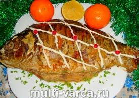 Как приготовить запеченного карпа в духовке в рукаве с лимоном, пошаговый рецепт с фото