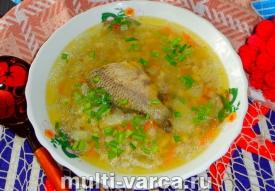 Рыбный суп с перловкой в мультиварке