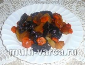 Печеные яблоки с черносливом в мультиварке