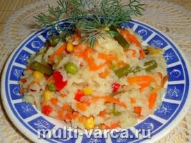 Рис с мексиканской смесью в мультиварке