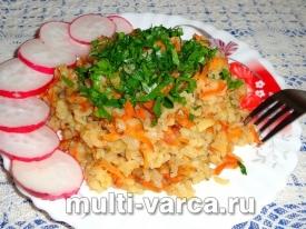 Рис в сметанном соусе в мультиварке