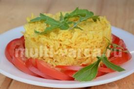 Рассыпчатый рис с шафраном в мультиварке-скороварке