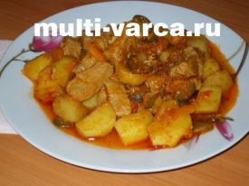Азу по татарски из свинины с картошкой в мультиварке