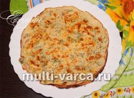 Блины с припеком с сыром и зеленью