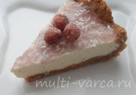 Кокосово-ванильный чизкейк как приготовить в мультиварке