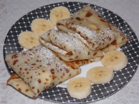Блины с бананом, рецепт с фото