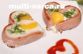 Яичница в мультиварке
