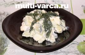 Салат из огурцов и яиц